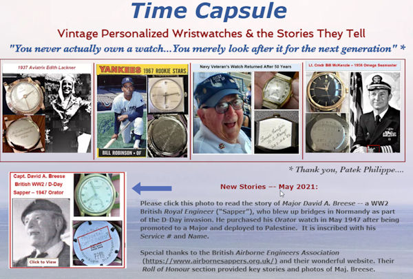 Time Capsule Watches Web Site